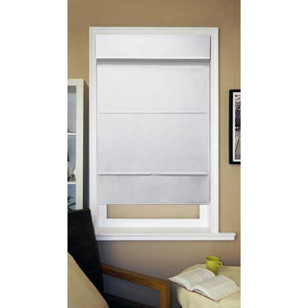 Chicology Mountain Snow Cordless Magnetic Thermal Light Filtering Roman Shades