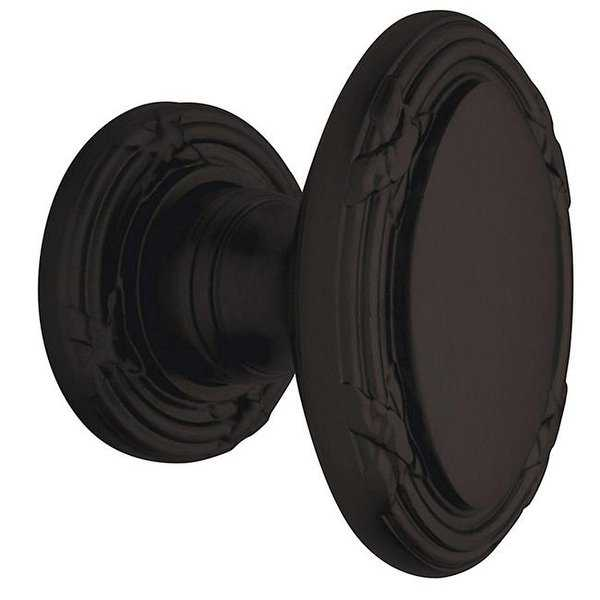 Oil Rubbed Bronze Oval Edinburgh Estate Knobs without Rosettes