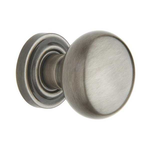 Baldwin 5000151MR Antique Nickel Estate Knobs without Rosettes