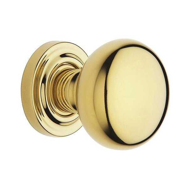Baldwin Estate Knobs Without Rosettes, Non-Lacquered Brass