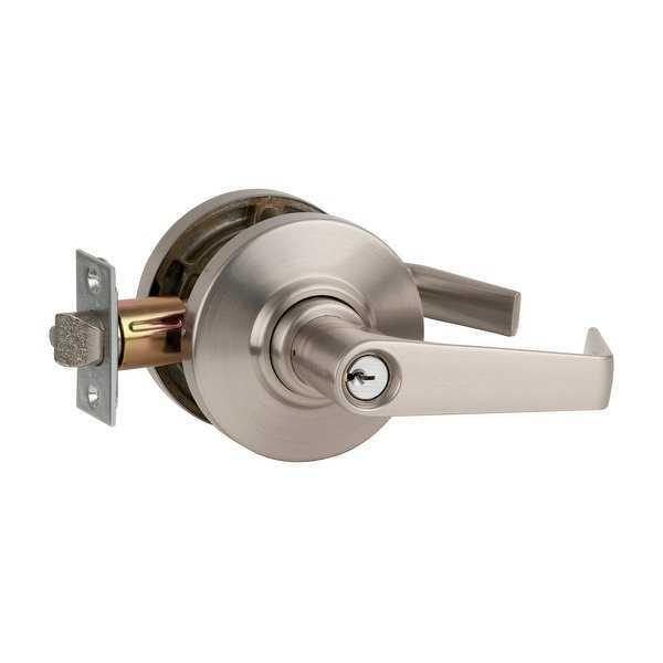 Schlage AL53PD-SAT Saturn Single Cylinder Keyed Door Lever Set for Secure Entrances - BHMA Grade 2 - N/A