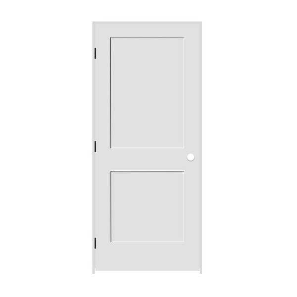Trimlite 2868138-8402RH1D6916 32' by 80' Shaker 2-Panel Right Handed Interior Pr - Primed - N/A