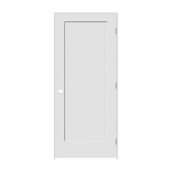 Trimlite 2068138-8401LH26D714 24' by 80' Shaker 1-Panel Left Handed Interior Pre - Primed - N/A
