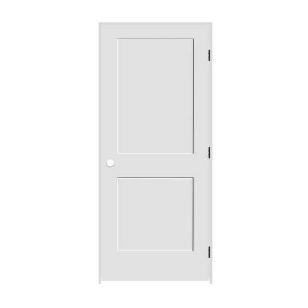 Trimlite 2668138-8402LH10B4916 30' by 80' Shaker 2-Panel Left Handed Interior Pr - Primed - N/A