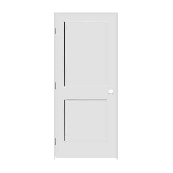 Trimlite 2668138-8402RH154916 30' by 80' Shaker 2-Panel Right Handed Interior Pr - Primed - N/A