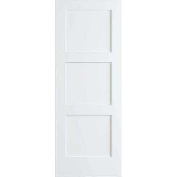 Frameport SHK-PD-F3P-8X1-1/2 Shaker 18' by 96' Flat 3 Panel Interior Passage Door - Primed - N/A