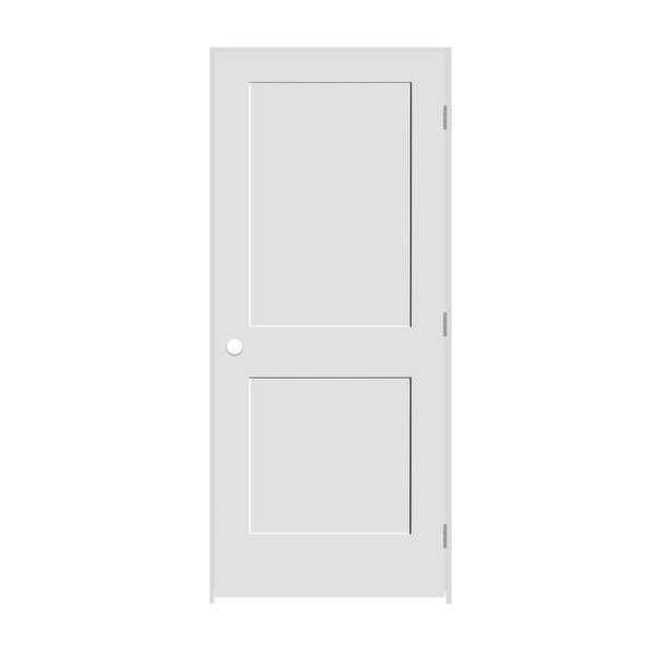 Trimlite 2068138-8402LH26D4916 24' by 80' Shaker 2-Panel Left Handed Interior Pr - Primed - N/A