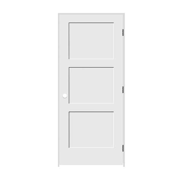Trimlite 3068138-8433LH10B6916 36' by 80' Shaker 3-Panel Left Handed Interior Pr - Primed - N/A
